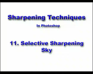 11 Selective Sky Sharpening